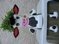 Vache assise