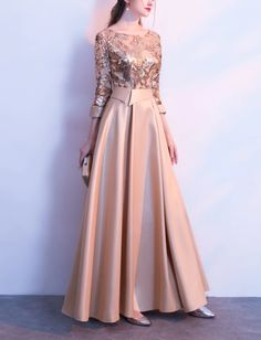 Gaun Stylish Dress Designs, Stylish Dresses, Elegant Dresses, Pretty Dresses, Beautiful Dresses, Evening Dress Long, Long Gown Dress, Formal Evening Dresses, Hijab Prom Dress