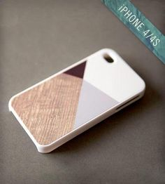 Grey Color Block Design iPhone Case