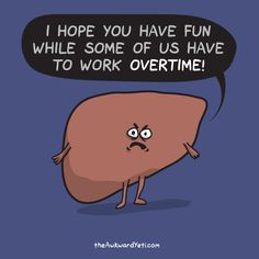 The awkward yeti cartoon comics Happy New Year's Eve, from Liver!