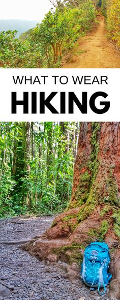 Hiking tips for beginners, what to wear hiking! Gear list of clothes for day hike, backpacking. Checklist for hiking destinations for world or USA travel bucket list, what are essentials? Boots, trail running shoes, sandals? Pants, trekking poles, backpack? How to carry water? Things to pack for outdoor vacation with trails for packing list! Hiking is cheap or free, perfect budget activity of things to do at national parks, road trip! Cold weather winter, hot weather summer. #hiking…