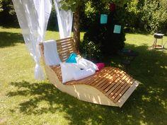 Marvelous Diy How to build a garden sunbed for two Tolle Sonnenliege f r den Garten