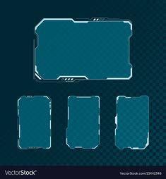 Hud futuristic user interface screen elements set vector image on VectorStock Interaktives Design, Design Food, Game Ui Design, Layout Design, Ui Inspiration, Graphic Design Inspiration, Ui Elements, Design Elements, Wireframe Mobile