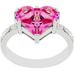 J Goodin Silver-Tone Pink Ice Cubic...