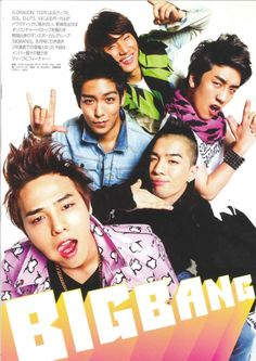 #BIGBANG ♡ G-Dragon ,Daesung ,TOP ,Seungri , and Taeyang