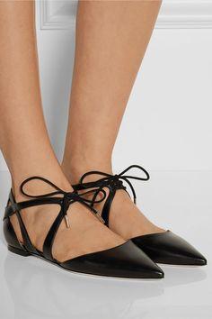 Jimmy ChooLyssa leather point-toe flats