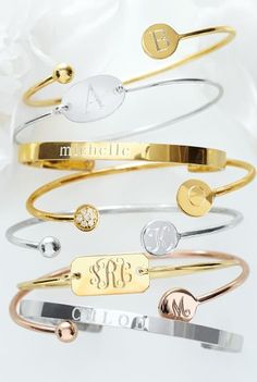 Beautiful monogrammed bangles http://rstyle.me/n/fm3w8nyg6
