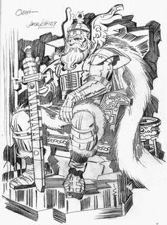 Odin by Jack Kirby - Charlean Janjusevic Comic Book Artists, Comic Artist, Comic Books Art, Artist Art, Jack Kirby Art, Jack King, Comic Kunst, Spiderman, Batman
