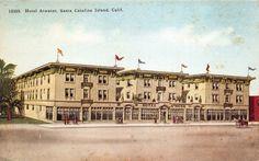 Postcard Hotel Atwater in Santa Catalina Island, California~