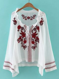 Specification:  Material:Cotton Style:Ethnic Collar:Slash Neck Color:White,Black Sleeve Length:Long Sleeve Pattern:Embroidery Season:Spring,Fall    Package included:  1*Shirts