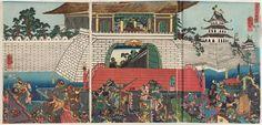 歌川国芳: Chûtatsu Kômei kakomi no zu - ボストン美術館
