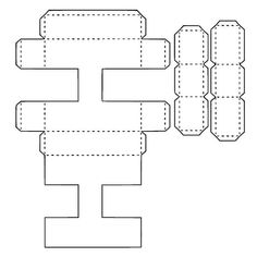 Bildergebnis für moldes de la s letras grandes Alphabet 3d, Alphabet Templates, 3d Letters, Letters And Numbers, Pop Up Greeting Cards, Paper Pom Poms, Paper Crafts Origami, Printable Letters, Felt Patterns
