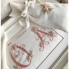 Wonderful Ribbon Embroidery Flowers by Hand Ideas. Enchanting Ribbon Embroidery Flowers by Hand Ideas. Embroidery Letters, Learn Embroidery, Hand Embroidery Stitches, Silk Ribbon Embroidery, Embroidery For Beginners, Embroidery Hoop Art, Hand Embroidery Designs, Embroidery Techniques, Flower Embroidery