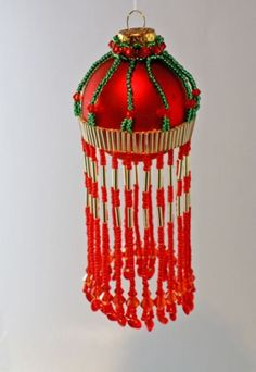 The Cascade Small Beaded Ornament Cover by TheOrnamentalLady, $7.00