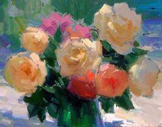"""Berberian, Ovanes - """"Roses in Green Vase"""""""