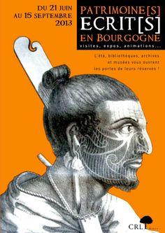 affiche patrimoines écrits Bourgogne 2013