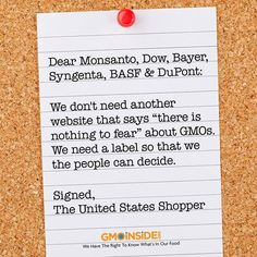 """Monsanto Has Hired PR Teams To Push Out Their New """"Transparency"""" Website. If they're so proud of their products. LABEL THEM!!"""