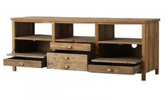 Elegant Solid Reclaimed Wood Rustic TV Media Console 68"