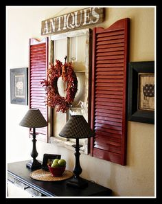 shutter decor - let the outside in...