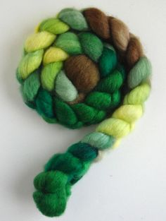 BFL Wool Roving (Top) - Handpainted Spinning or Felting Fiber, Daffodils