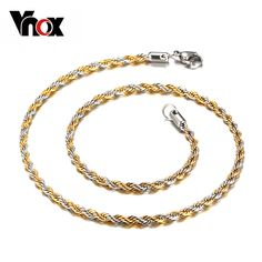 67b0344767f Find More Chain Necklaces Information about Vintage gold plated and silver  plated twist chain box necklace