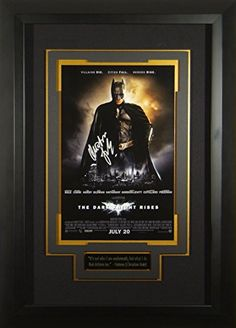 Batman Dark Knight Rises Chrisitan Bale Signed 11x17 Poster Autographed @ niftywarehouse.com #NiftyWarehouse #Batman #DC #Comics #ComicBooks