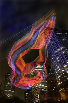 Studio Echelman has used more than 100 miles of rope to create a sculpture that floats high above a Boston park.