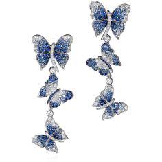 Dancing Butterfly Earrings by Vanleles Diamonds ($11,360) ❤ liked on Polyvore featuring jewelry, earrings, silver, butterfly earrings, diamond butterfly earrings, 18k jewelry, monarch butterfly jewelry and graduation jewelry