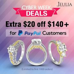 Cyber Week Deals!!!!!😘 35% OFF SITEWIDE!😘😘 Lowest Price Guarantee!!!!💍💍💍 Get yours today and save during our Cyber Week Sale: http://jeulia.io/2kc7Eez #Fashion #Jewelry #Shopping #Deals #Love #Beauty#Art #Necklace #Pendant #learning #educational #games #toys #toddler#Christmas#Women#Men