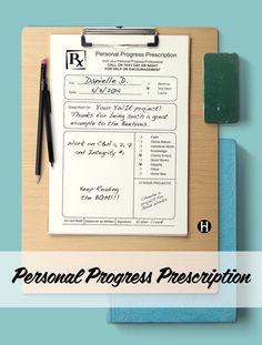 Personal Progress Prescription Pad - THE MORMON HOME THE MORMON HOME