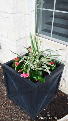 Need an easy-to-make planter with big style? This beautiful planter was inspired by Versailles yet only cost around $25 to make (less if you go with a smaller size).
