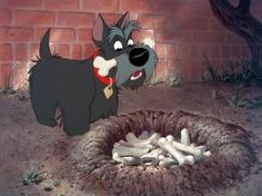 Jock, Disney's 'Lady & The Tramp'... awwh Jock-- who knew that you'd make me fall in love with Scotties as a very little girl ?  <3