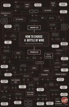 How to choose wine infographic - useful and entertaining!!