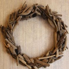 DIY Driftwood Wreath tutorial  - a Restoration Hardware knock-off project