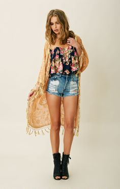 This outfit is incredible..Blu Moon Queen Burnout Kimono