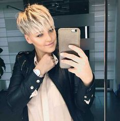 Blonde short hair ideas for ladies - Cabello Rubio Short Pixie Haircuts, Short Bob Hairstyles, Short Hair Cuts, Short Hair Styles, Ladies Hairstyles, Blonde Hairstyles, Blonde Pixie, Short Blonde, Which Hair Colour