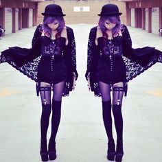 Pastel Goth Clothing Style and Hair