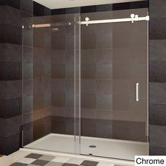 LessCare ULTRA-B 44-48x76-inch Semi-frameless Sliding Shower Doors - Free Shipping Today - Overstock.com - 16981641 - Mobile