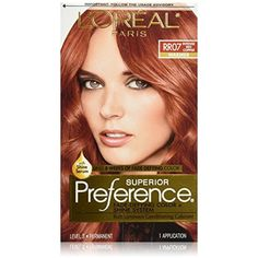 Pref Red Copper Rr-07 Size 1ct L'Oreal Preference Hair Color Intense Red Copper  #HairColoringProducts