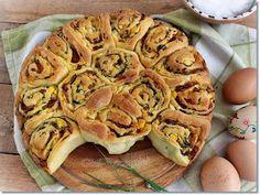 Gizi-receptjei. Várok mindenkit.: Húsvéti sonkás csigatorta. Apple Pie, Cauliflower, Tacos, Mexican, Baking, Vegetables, Ethnic Recipes, Desserts, Food