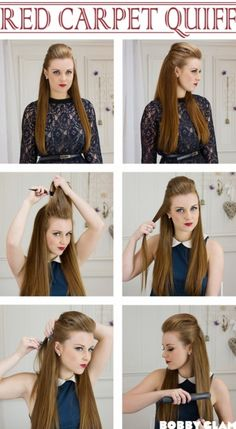 Red Carpet Quiff hair tutorial. Not that I'd ever where my hair like this... but it looks cool