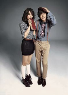 Yoon Eun Hye and Kim Hyun Joong model from Basic House    im going to marry kim hyun joong!