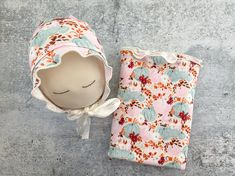 Newborn Photo Prop - Gorgeous Fall Colors Pumpkin Print Wrap and Bonnet Set - READY TO SHIP by wrenandwillowdesigns on Etsy