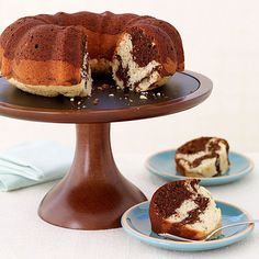 Weight Watchers Marble Pound Cake - This cake is so buttery-rich tasting you won't believe you're eating something light. It's a yummy dessert for any occasion.