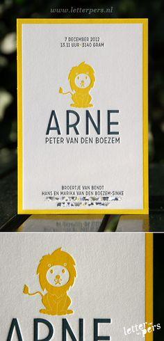 letterpers_letterpress_geboortekaartje_Arne_leeuwtje
