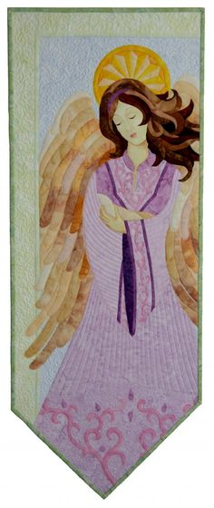 Spring Angel applique quilt pattern by Laurie Tigner Designs