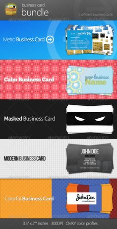 Business Card Bundle 5 in 1 - Corporate Business Cards