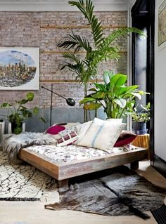 Chambre d'inspiration coloniale