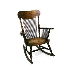 Amazing Rosewood Dark Oak Rocking Accent Chair