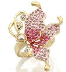 #modeets.com              #ring                     #Rose #Butterfly #Cocktail #Ring #Modeets           Rose Butterfly Cocktail Ring ??? Modeets                                      http://www.seapai.com/product.aspx?PID=1447743